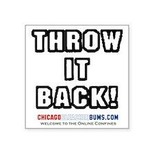 "ThrowItBack Square Sticker 3"" x 3"""
