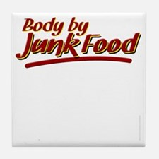 Body By Junk Food funny fatboy shirts Tile Coaster