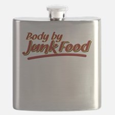 Body By Junk Food funny fatboy shirts Flask