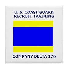 USCG Recruit Company D176<BR> Tile Coaster
