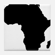 African Continent_Large Tile Coaster
