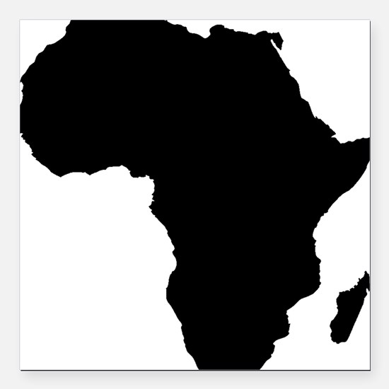 """African Continent_Large Square Car Magnet 3"""" x 3"""""""