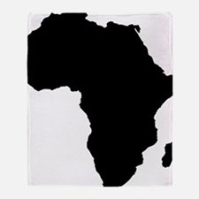African Continent_Large Throw Blanket