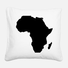 African Continent_Large Square Canvas Pillow