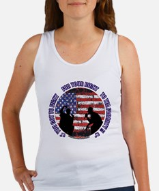 Tea Party - Button w website for  Women's Tank Top