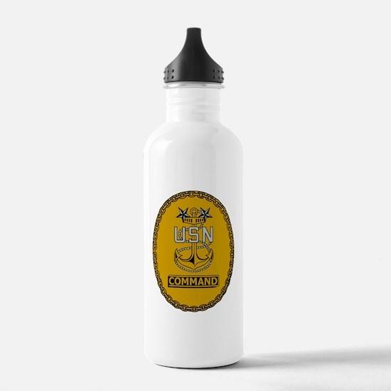 Navy-Cmd-MCPO-Insignia Sports Water Bottle