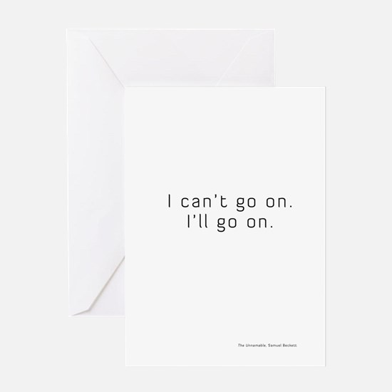 unnamable-journal-black-text Greeting Card