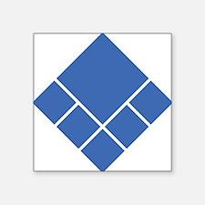 "UEFblue Square Sticker 3"" x 3"""