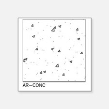 "AR-CONC Square Sticker 3"" x 3"""