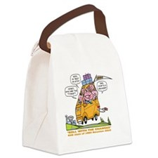 with balloons Canvas Lunch Bag