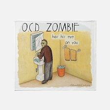OCD Zombie Copyright Throw Blanket