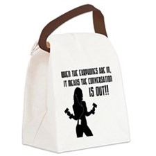 when-the-headphones Canvas Lunch Bag