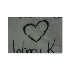 We Heart Johnny K Rectangle Magnet