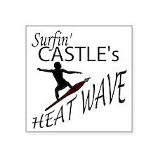 Surfin Castles HeatWave Square Sticker 3