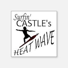 """Surfin Castles HeatWave Square Sticker 3"""" x 3"""""""