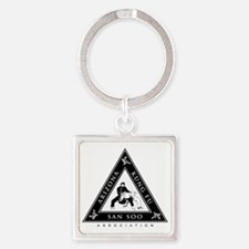 2-front Square Keychain