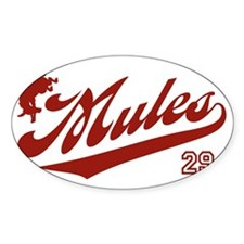 mules_baseball29 Decal