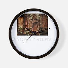 ancient ruins trans3 Wall Clock