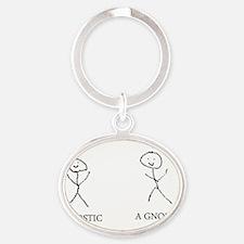 2-agnostic Oval Keychain