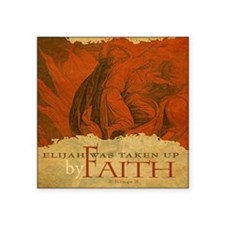 "Mousepad_ByFaith_Elijah Square Sticker 3"" x 3"""