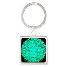 ART Green Light Square Keychain