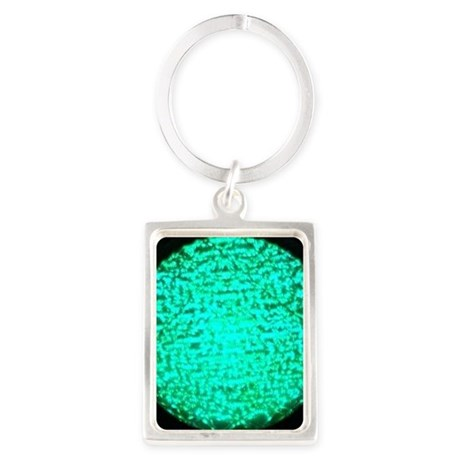 ART Green Light Portrait Keychain