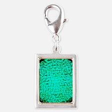 ART Green Light Silver Portrait Charm
