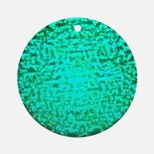 ART Green Light Round Ornament