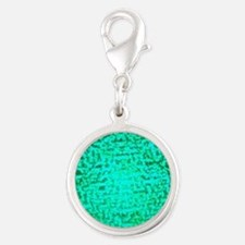 ART Green Light Silver Round Charm