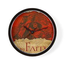 Mousepad_ByFaith_AbrahamIsaac Wall Clock