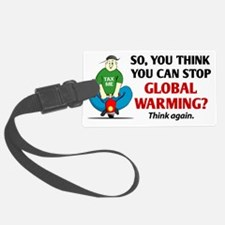 Global-Warming-(scooter) Luggage Tag