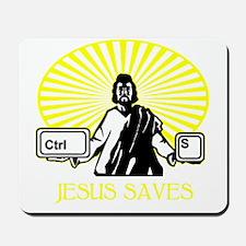 2-JesusSaves_darks Mousepad