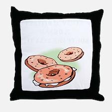 bagel and lox joke Throw Pillow