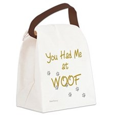 you_had_me_at_woof_gold-blackT Canvas Lunch Bag