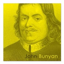 "Coaster_Heads_JohnBunyan Square Car Magnet 3"" x 3"""