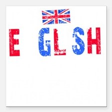 "English Thing -blk Square Car Magnet 3"" x 3"""