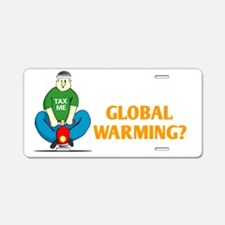 Global-Warming-(dark) Aluminum License Plate