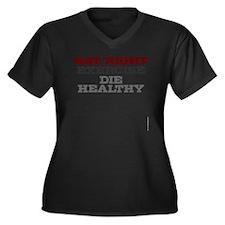 Eat Right, E Women's Plus Size Dark V-Neck T-Shirt