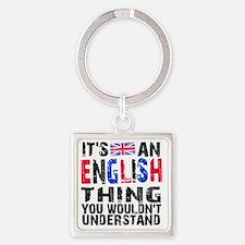 English Thing Square Keychain