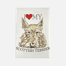 Wheaten Scottish Terrier Love My Rectangle Magnet