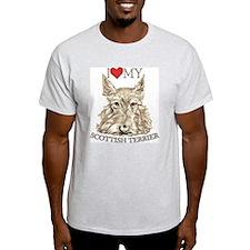 Wheaten Scottish Terrier Love My Ash Grey T-Shirt