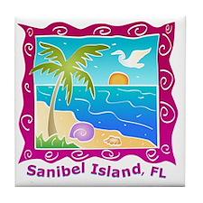 Sanibel-Island-Colors Tile Coaster