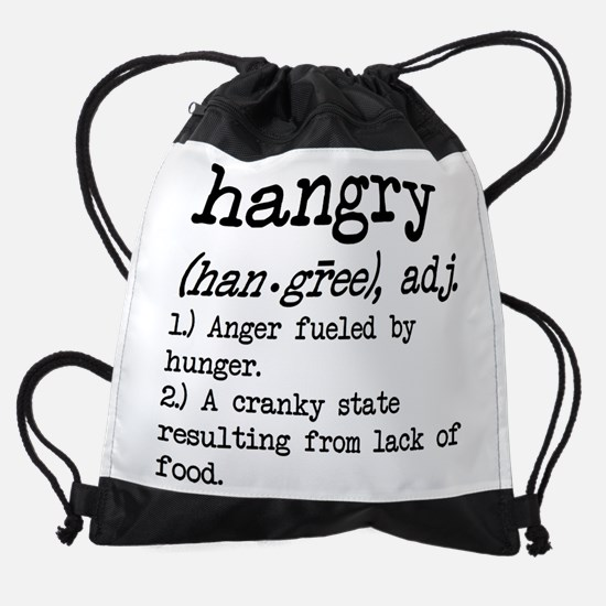 Hangry: Defined Drawstring Bag