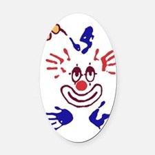 clown01 Oval Car Magnet