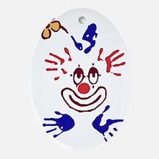 clown01 Oval Ornament