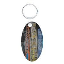 ChelseaJaq67RiveraScape Aluminum Oval Keychain