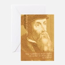 Journal_HeadQuote_Calvin_gold Greeting Card