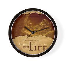 Mousepad_ProLife-Christianity Wall Clock