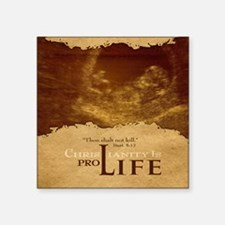 "Mousepad_ProLife-Christiani Square Sticker 3"" x 3"""