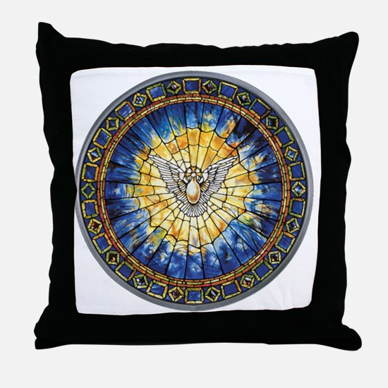 3-HolySprit_Trans_PNG Throw Pillow